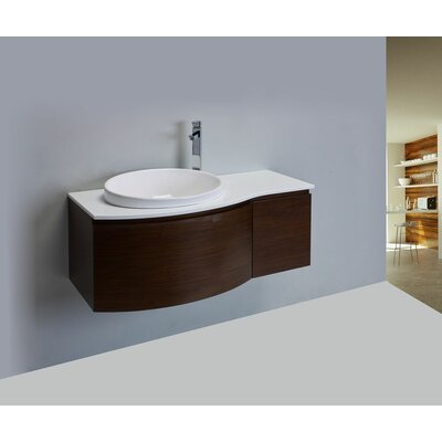 Curvy 48 Single Bathroom Vanity Set Base Finish: Brown