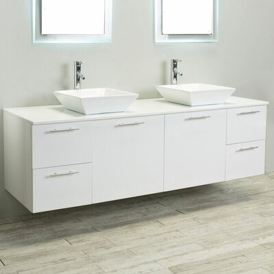 Luxury 72 Double BathroomVanity Base Finish: White