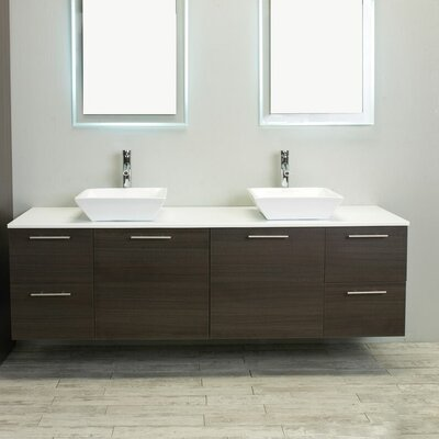 Luxury 72 Double Bathroom Vanity Base Finish: Rosewood