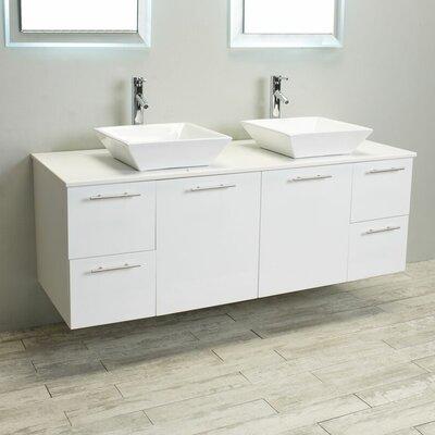 Luxury 60 Bathroom Vanity Base Finish: White