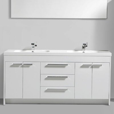 Zuzanna 72 Double Bathroom Vanity Set