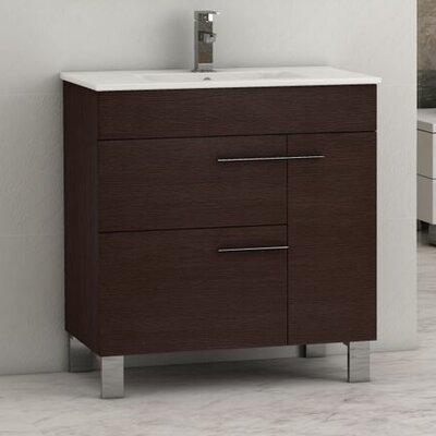 """Cup 31.5"""" Single Modern Bathroom Vanity Set EVVN521-32WG"""
