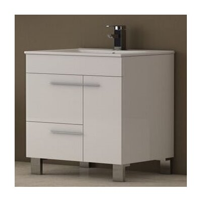 Cup 31.5 Single Bathroom Vanity Set Base Finish: White