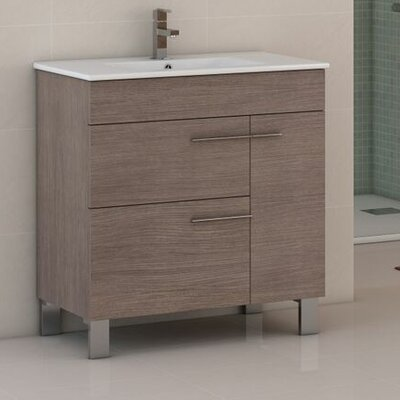 "Cup 31.5"" Single Bathroom Vanity Set EVVN521-32MOK"