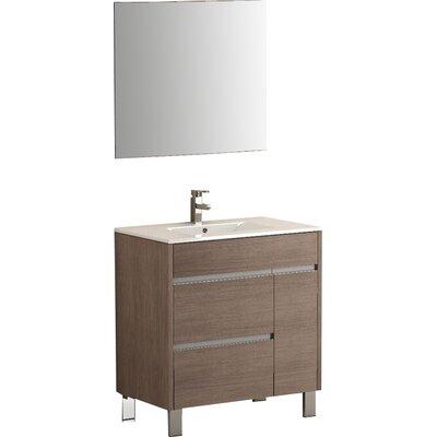 Tauro� 32 Single Bathroom Vanity Set Base Finish: Medium Oak