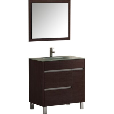 Tauro 32 Single Bathroom Vanity Set Base Finish: Wenge