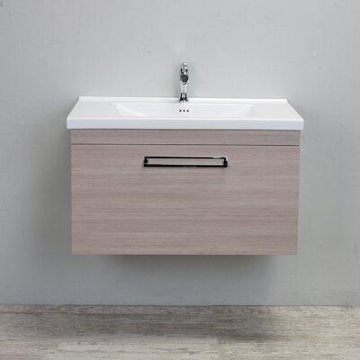 Orleans Modern 38 Single Bathroom Vanity Set Base Finish: Light Oak