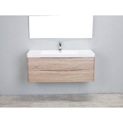Bodhi Modern 48 Single Bathroom Vanity Set Base Finish: White Oak