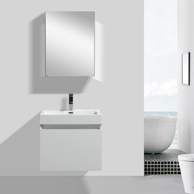 Drop Modern 24 Single Bathroom Vanity Set