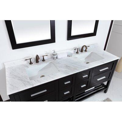 Natalie F. 72 Double Bathroom Vanity Set