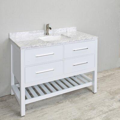 Natalie 48 Single Bathroom Vanity Set Base Finish: White