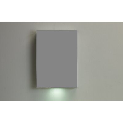Lazy 20 x 26.6 Surface Mount Medicine Cabinet Finish: Silver