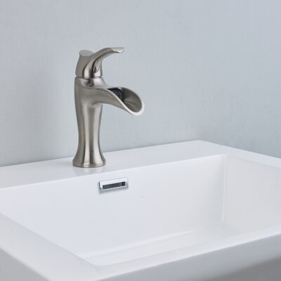 Swan� Single hole Bathroom Faucet Finish: Brushed Nickel