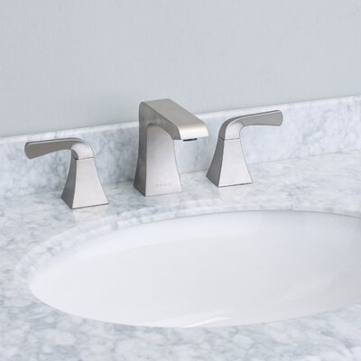 Butterfly� Double Handle Deck Mount Widespread Bathroom Faucet Finish: Brushed Nickel
