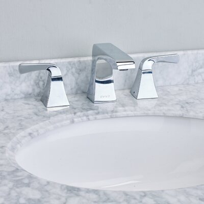 Butterfly� Double Handle Deck Mount Widespread Bathroom Faucet Finish: Chrome
