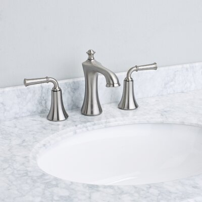 Oceanbreeze� Double Handle Deck Mount Widespread Bathroom Faucet Finish: Brushed Nickel