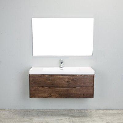 Bodhi Modern 48 Single Bathroom Vanity Set Base Finish: Rosewood