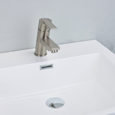 Midtown� Single Handle Deck Mount Lever Handle Bathroom Faucet Finish: Brushed Nickel