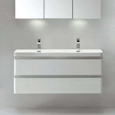 Blaire Modern 48 Double Bathroom Vanity Set