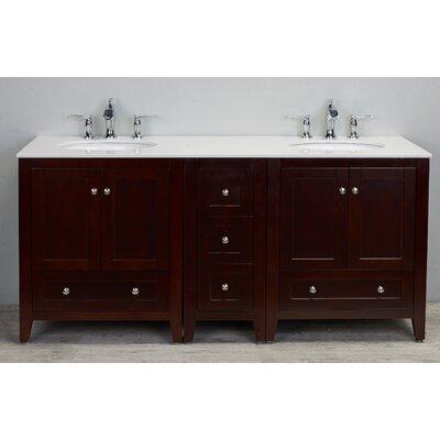 Lime 72 Double Bathroom Vanity Set