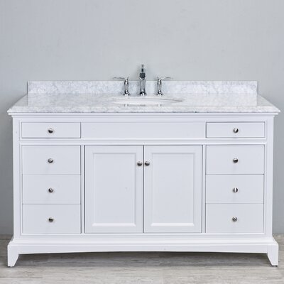 Elite Stamford� 60 Single Bathroom Vanity Set Base Finish: White