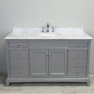 Elite Stamford� 60 Single Bathroom Vanity Set Base Finish: Gray