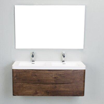 Blondene Modern 48 Double Bathroom Vanity Set Base Finish: Rosewood