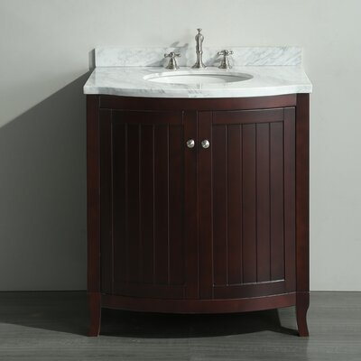 Odessa Zinx+� 30 Single Bathroom Vanity Set Base Finish: Dark Teak