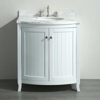 Odessa Zinx+� 30 Single Bathroom Vanity Set Base Finish: White