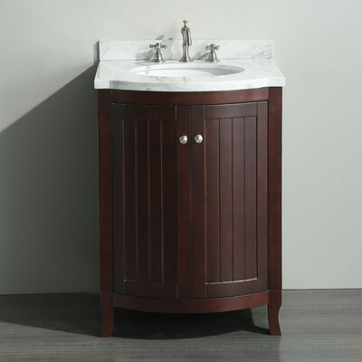 Odessa Zinx+� 24 Single Bathroom Vanity Set Base Finish: Dark Teak