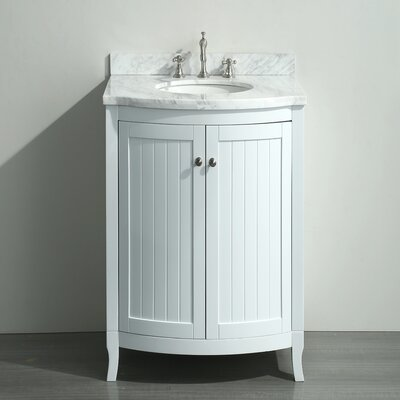 Odessa Zinx+� 24 Single Bathroom Vanity Set Base Finish: White