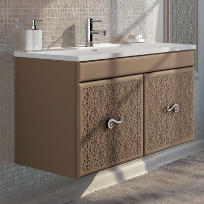 Venice 32 Single Bathroom Vanity Set Base Finish: Brown