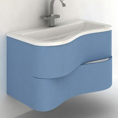 Touch 36 Single Bathroom Vanity Set Base Finish: Blue