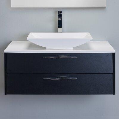 Zenvi� 39 Single Bathroom Vanity Set Base Finish: Black Wood