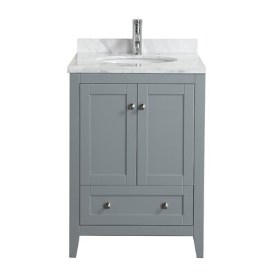 Lime� 24 Single Bathroom Vanity Set Base Finish: Chilled Gray