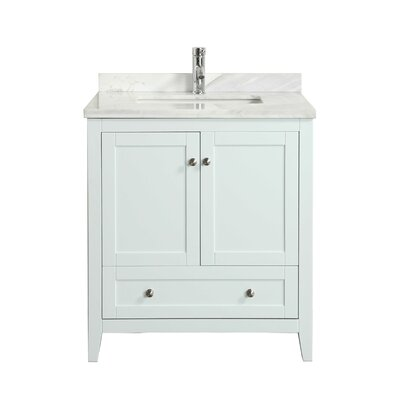 Lime� 30 Single Bathroom Vanity Set Base Finish: White