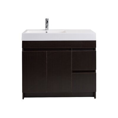 Beach 39 Single Bathroom Vanity Set Base Finish: Wenge