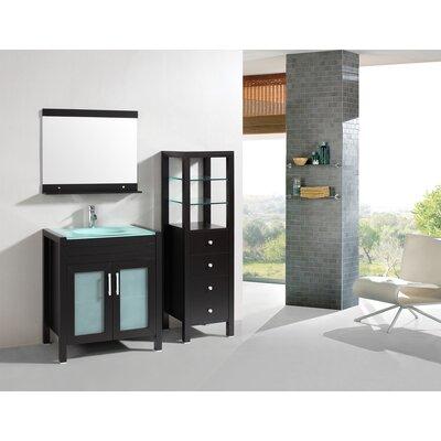 Roca 36 Single Bathroom Vanity Set Base Finish: Espresso
