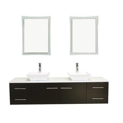 Vinit 72 Double Bathroom Vanity Set Base Finish: Espresso