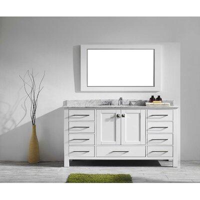 Pichardo 60 Single Bathroom Vanity Set Base Finish: White