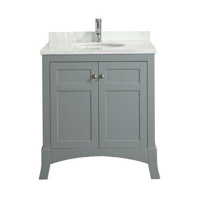 New York 30 Single Bathroom Vanity Set Base Finish: Gray
