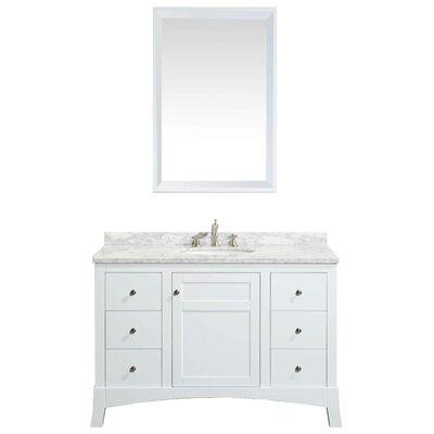 Piccirillo 49.5 Single Bathroom Vanity Set Base Finish: White