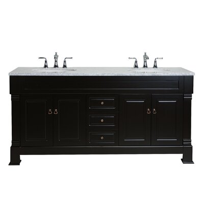 Alfredo 72 Double Bathroom Vanity Set