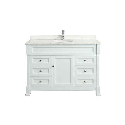 Tim� 48 Single Bathroom Vanity Set Base Finish: White