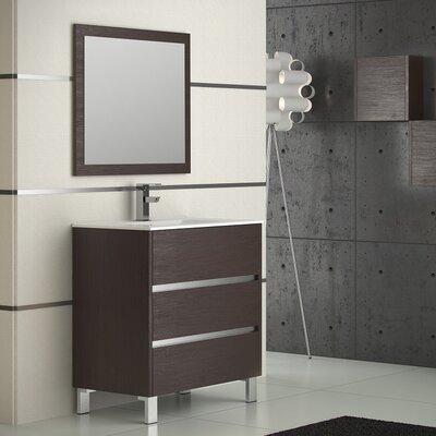 Escorpio 32 Single Bathroom Vanity Set Base Finish: Wenge