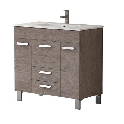 Venus� 36 Single Bathroom Vanity Set Base Finish: Medium Oak