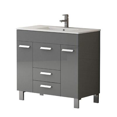 Venus� 36 Single Bathroom Vanity Set Base Finish: Gray