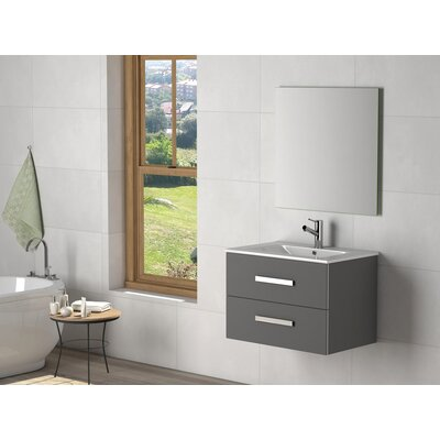 Terence 28 Single Bathroom Vanity Set Base Finish: Gray