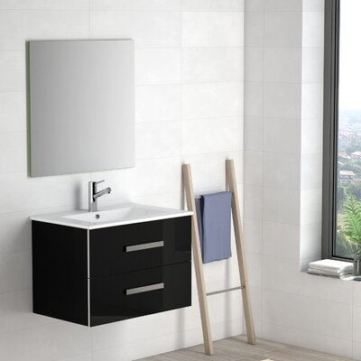 Terence 28 Single Bathroom Vanity Set Base Finish: Black