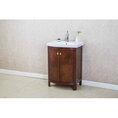 Taryn 24 Single Bathroom Vanity Set Base Finish: Walnut